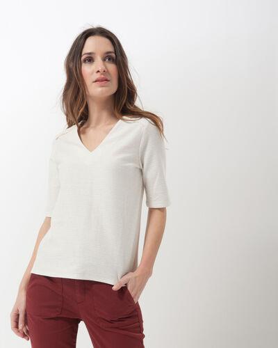 Tee-shirt rayé écru Naim (1) - 1-2-3