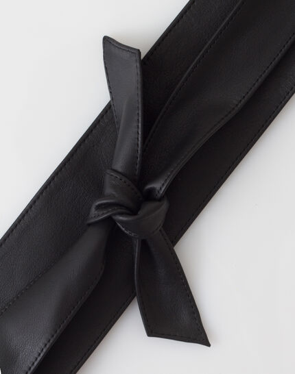 Odile wide black leather belt PhotoZ | 1-2-3