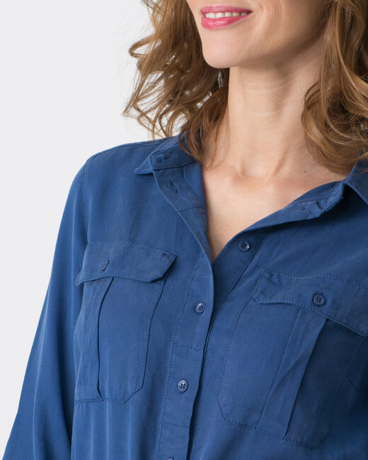 Robe bleue en lyocell Bliss (2) - 1-2-3