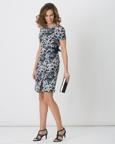 Floriane blue printed dress (1) - 1-2-3