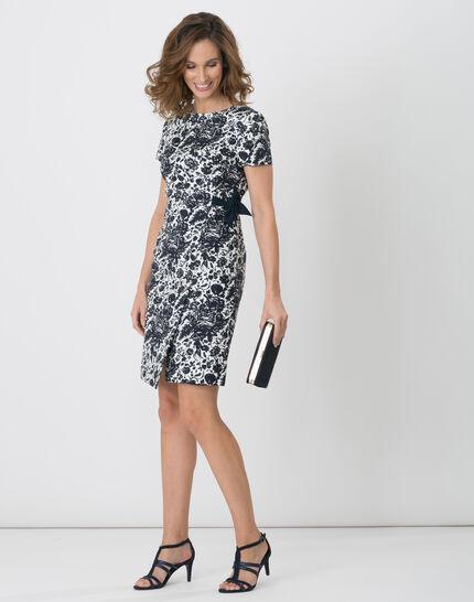 Floriane blue printed dress (2) - 1-2-3