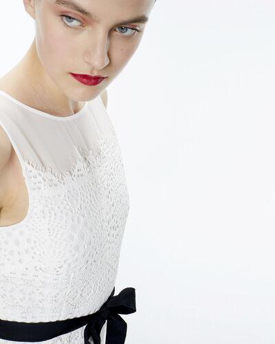 Robe écrue bi-matière avec ceinture Folk (1) - 1-2-3