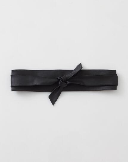 Odile wide black leather belt (2) - 1-2-3
