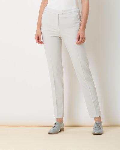 Pantalon de tailleur gris pâle Lara (1) - 1-2-3