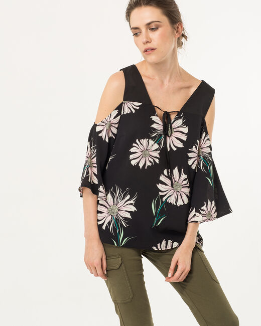 Eglantine black printed top (1) - 1-2-3