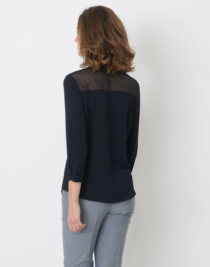 Edita navy blue shirt with lace (5) - 1-2-3