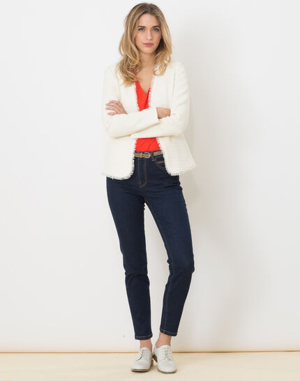 7/8 length raw-look jeans with golden belt (5) - 1-2-3