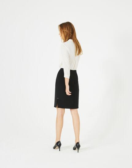 Fanfare straight-cut black tailored skirt (5) - 1-2-3