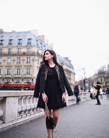Bergame black knitted dress (3) - 1-2-3