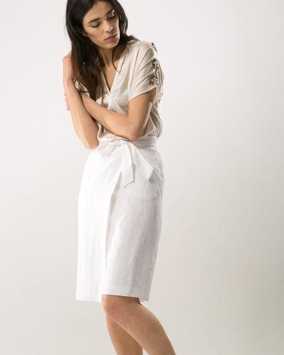 Dahalia white linen skirt (2) - 1-2-3