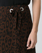 Donuts animal print dance skirt chocolate.