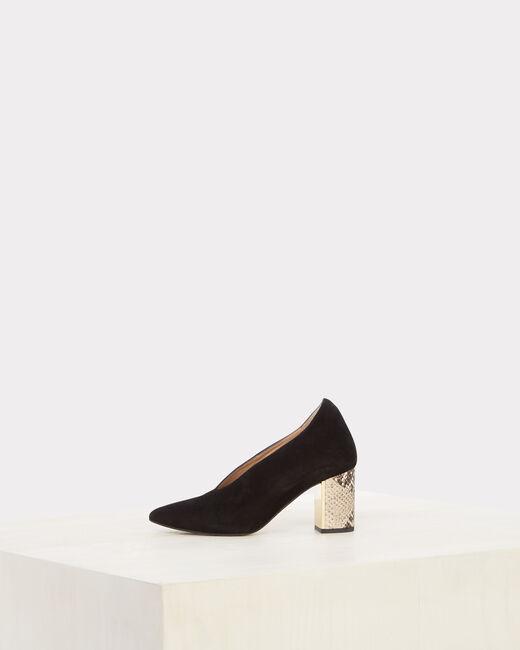 Naomi Bis snake skin effect black heels (1) - 1-2-3