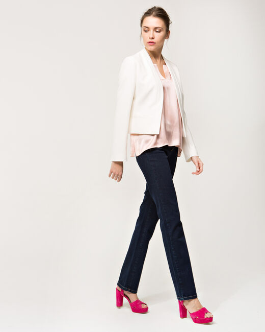 Louise ecru cropped jacket (1) - 1-2-3