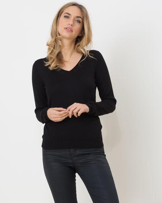 Pull noir manches longues Honorine (2) - 1-2-3