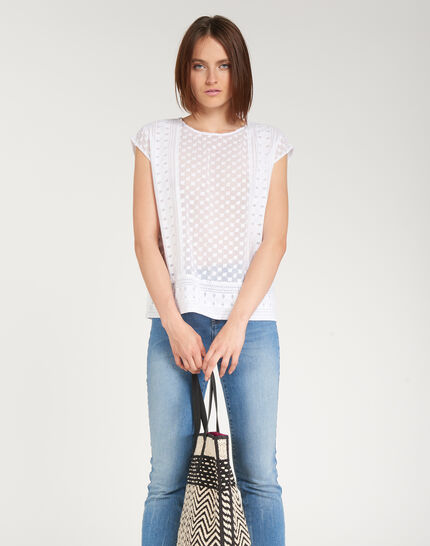 Ekta ecru embroidered shirt (2) - 1-2-3