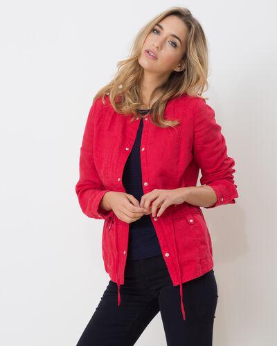 Veste rouge en lin Umbria (1) - 1-2-3