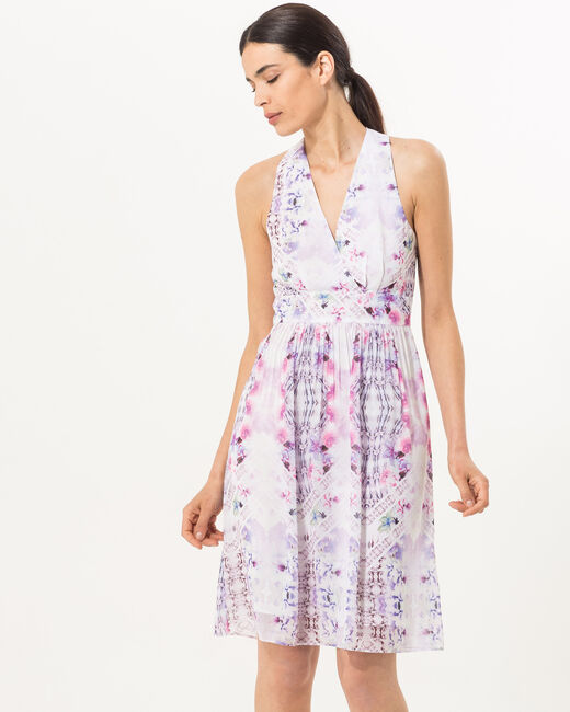 Florane printed dress in lilac (2) - 1-2-3
