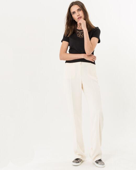 Pantalon large vanille Rina (2) - 1-2-3