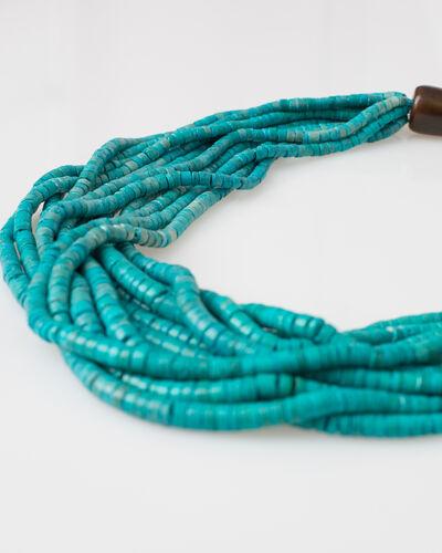 Wasabi beaded blue ethnic necklace (2) - 1-2-3