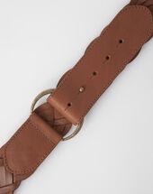 Ylana braided leather belt camel.