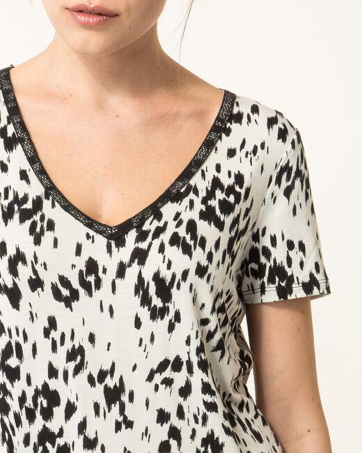 Tee-shirt noir et blanc imprimé Nyx (1) - 1-2-3