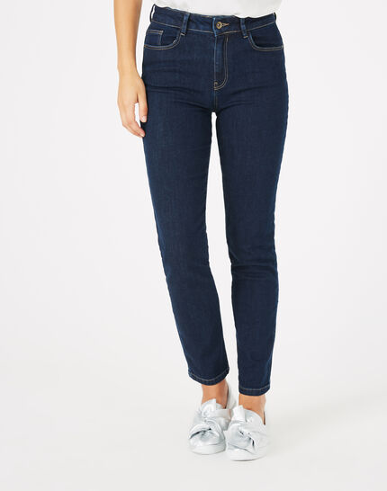 Oliver raw-cut 7/8 length jeans with studs PhotoZ | 1-2-3