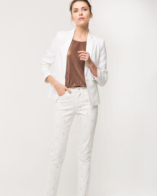 Veste blanche en lin Akira (1) - 1-2-3