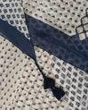 Sam navy blue printed scarf in silk (1) - 1-2-3