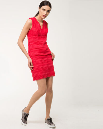 Fragola coral guipure lace dress (1) - 1-2-3