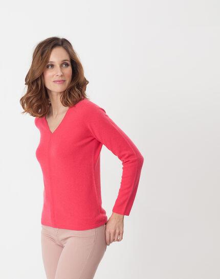 Heart fuchsia cashmere sweater (3) - 1-2-3