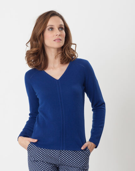 Heart dark blue cashmere jumper PhotoZ | 1-2-3