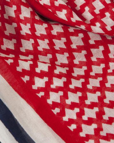 Foulard rouge imprimé en coton Samantha (2) - 1-2-3