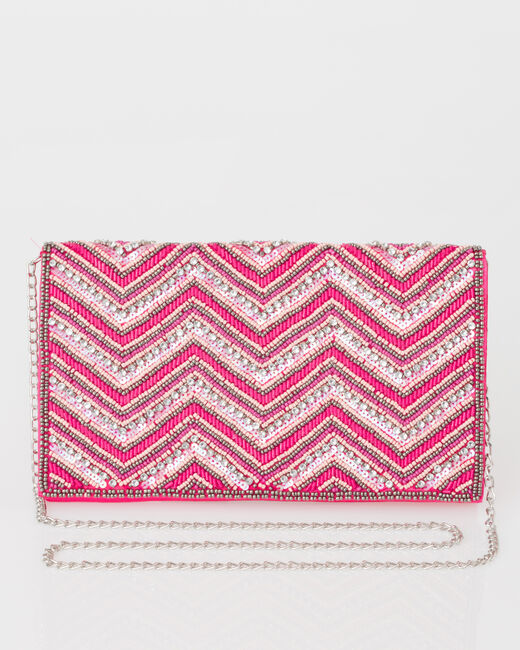 Prune beaded pink clutch (1) - 1-2-3