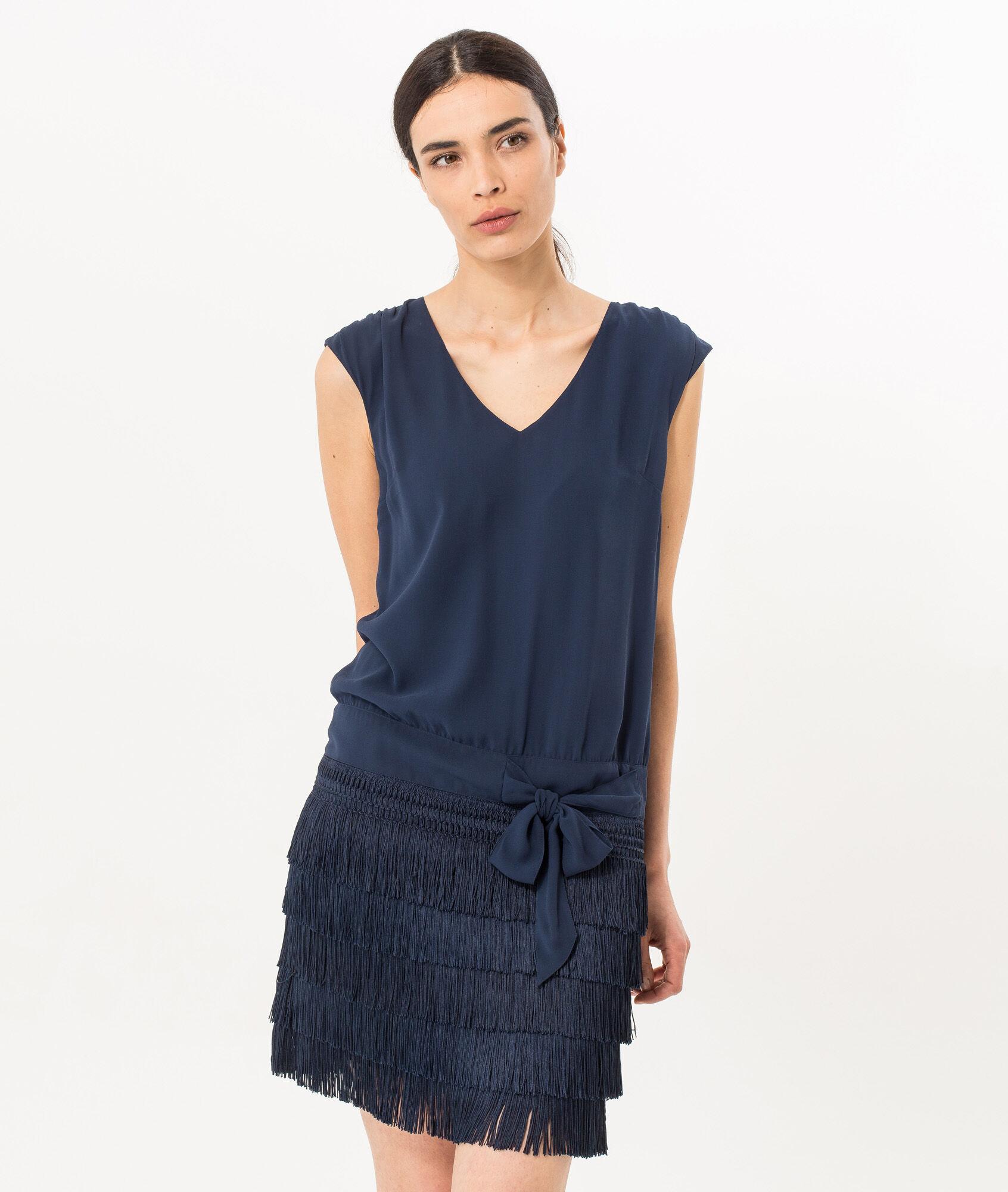 Blue charleston dress
