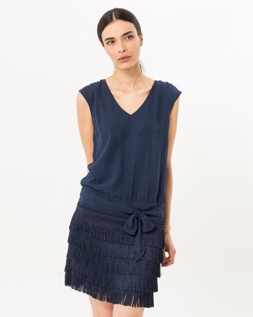 Robe bleu marine esprit Charleston Mistinguette (2) - 1-2-3