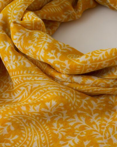 Foulard jaune imprimé Sun (2) - 1-2-3