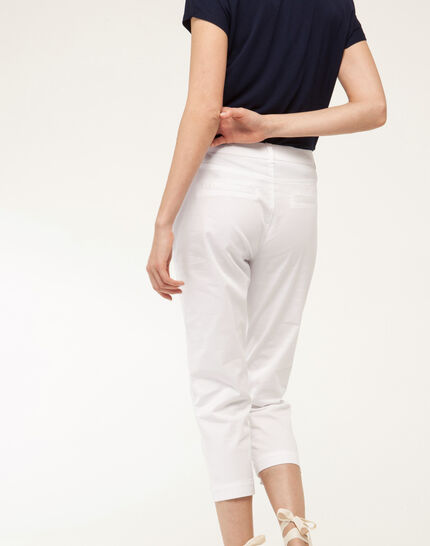 Filibert light white cropped trousers (4) - 1-2-3