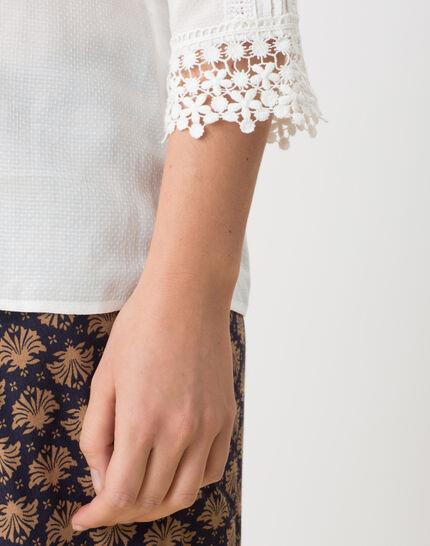 Emma ecru blouse with lace (5) - 1-2-3