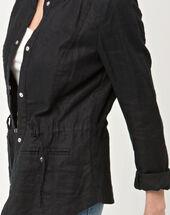 Umbria black linen jacket black.