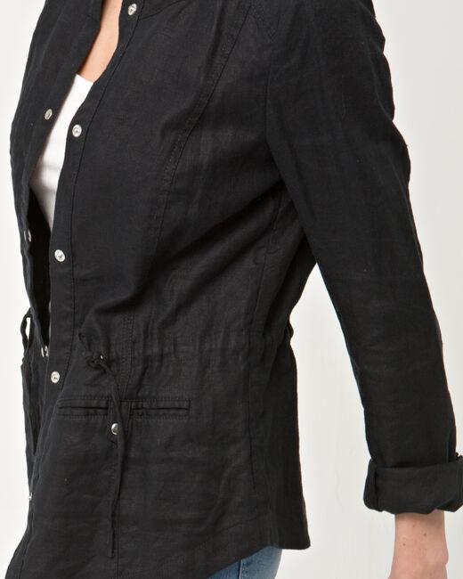 Veste noire en lin Umbria (1) - 1-2-3