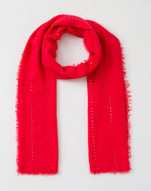 Safir sequined coral stole coral.