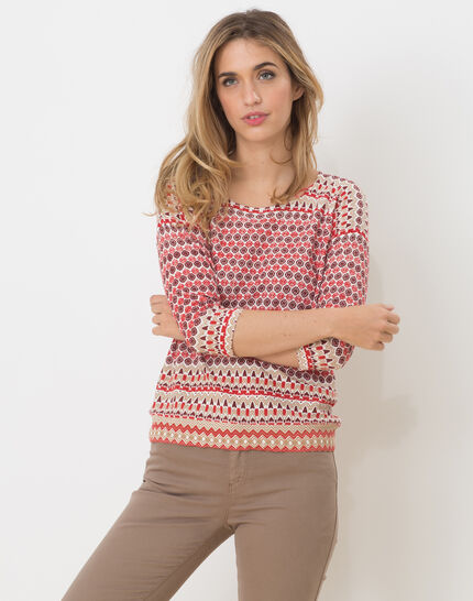 Hammam red printed sweater PhotoZ | 1-2-3