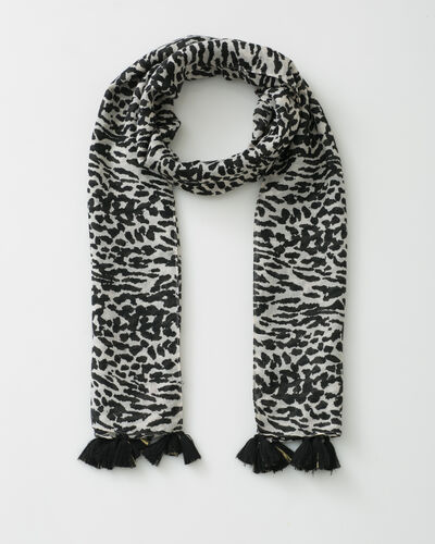 Savana black scarf in animal print (1) - 1-2-3