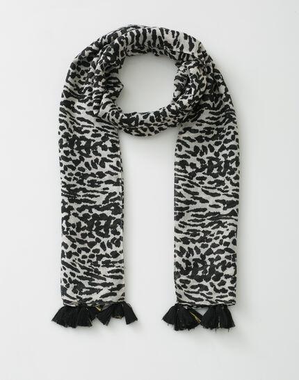Savana black scarf in animal print (2) - 1-2-3