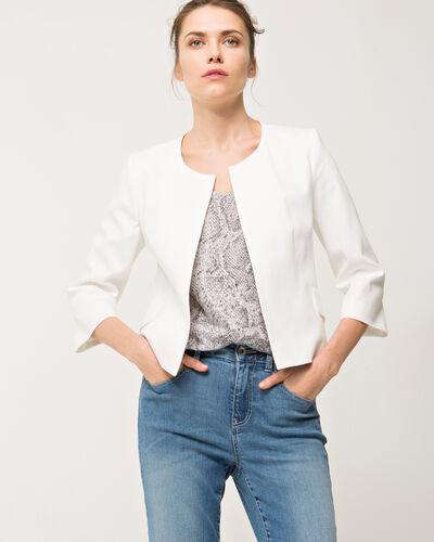 Veste blanche piquée Bohême (1) - 1-2-3