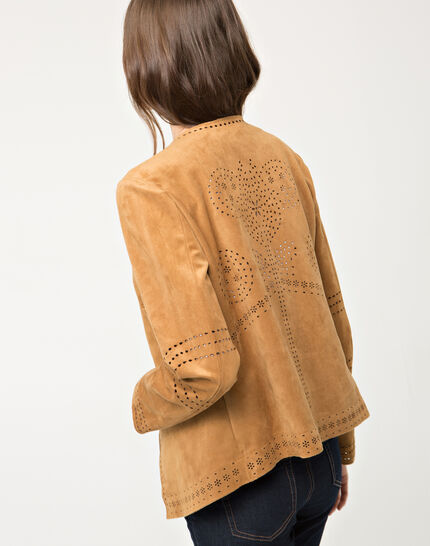 Ulysse perforated camel jacket (4) - 1-2-3