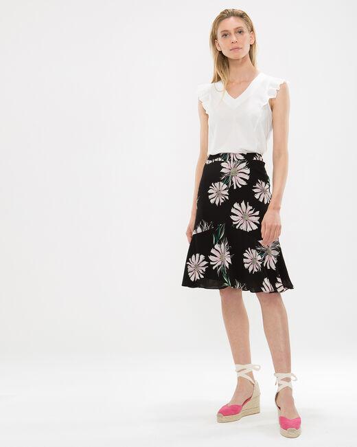 Debor black skirt with floral print (1) - 1-2-3