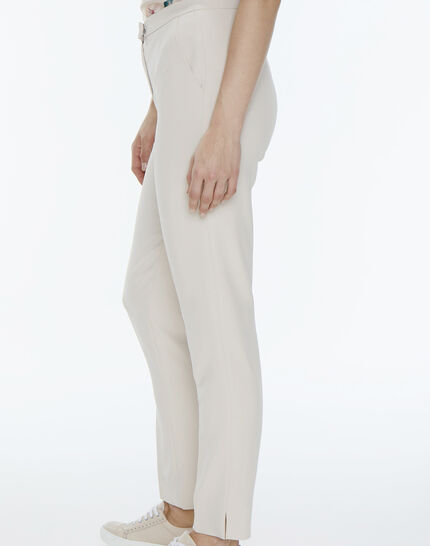 Lara beige tailored trousers (3) - 1-2-3