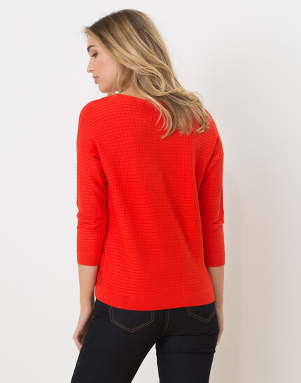 Hélice geranium sweater with long sleeves (4) - 1-2-3