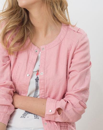Umbria pink linen jacket PhotoZ | 1-2-3